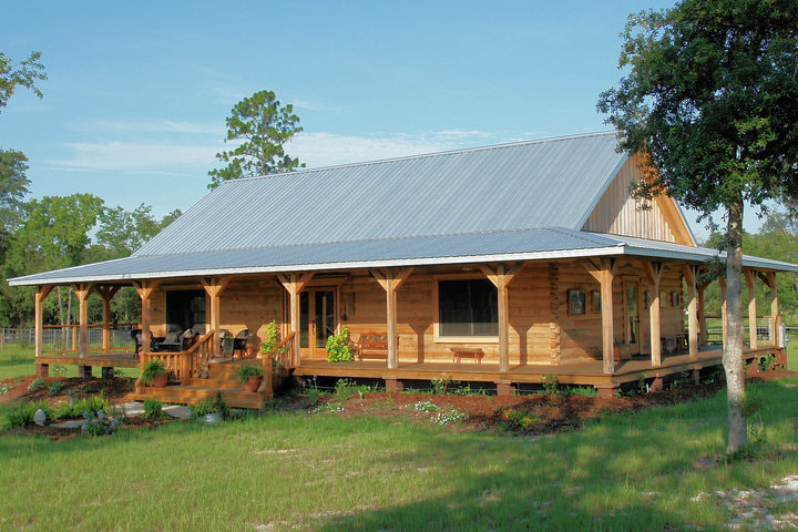 Cracker Style Log Homes Sawmill Home
